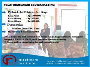 Pelatihan Dasar SEO Marketing #Batch 1